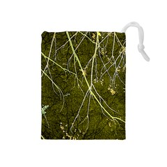 Wild Nature Collage Print Drawstring Pouch (medium)