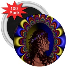 New Romantic 3  Button Magnet (100 Pack)