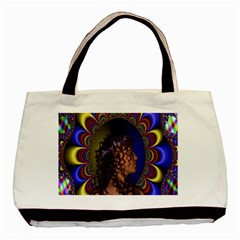 New Romantic Twin-sided Black Tote Bag
