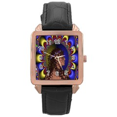 New Romantic Rose Gold Leather Watch