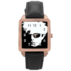 Warhol Rose Gold Leather Watch