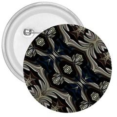 Fancy Ornament Print 3  Button