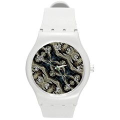 Fancy Ornament Print Plastic Sport Watch (Medium)