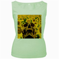 Sunflowers Women s Tank Top (green)