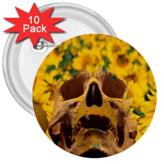 Sunflowers 3  Button (10 Pack)