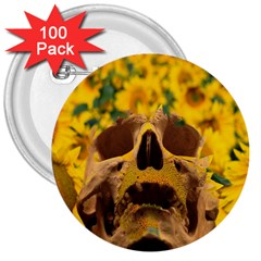 Sunflowers 3  Button (100 Pack)