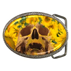Sunflowers Belt Buckle (Oval)