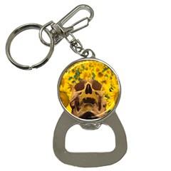 Sunflowers Bottle Opener Key Chain