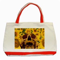 Sunflowers Classic Tote Bag (Red)