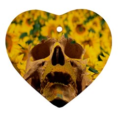 Sunflowers Heart Ornament (Two Sides)