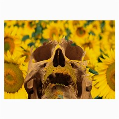 Sunflowers Glasses Cloth (large, Two Sided)