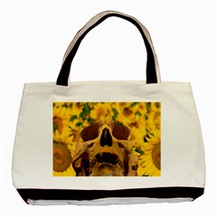 Sunflowers Twin-sided Black Tote Bag