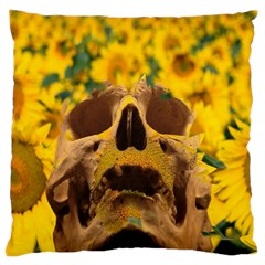 Sunflowers Large Cushion Case (two Sided)