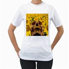 Sunflowers Women s T-Shirt (White)