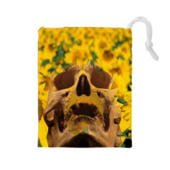 Sunflowers Drawstring Pouch (large)