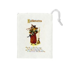 Tis Hallowe en Drawstring Pouch (Medium)