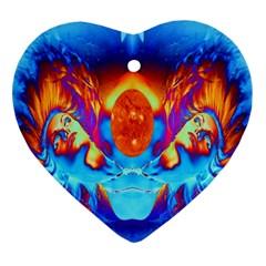 Escape From The Sun Heart Ornament