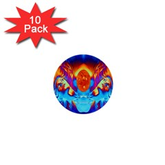 Escape From The Sun 1  Mini Button (10 Pack)