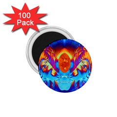 Escape From The Sun 1.75  Button Magnet (100 pack)
