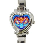 Escape From The Sun Heart Italian Charm Watch  Front