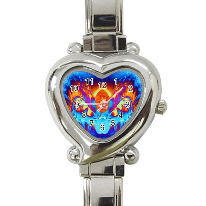 Escape From The Sun Heart Italian Charm Watch