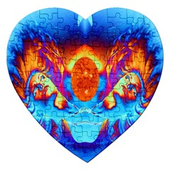 Escape From The Sun Jigsaw Puzzle (heart)