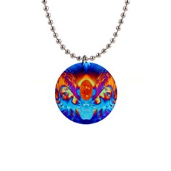 Escape From The Sun Button Necklace
