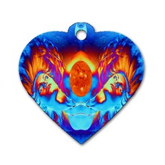 Escape From The Sun Dog Tag Heart (Two Sided)
