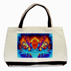 Escape From The Sun Twin-sided Black Tote Bag