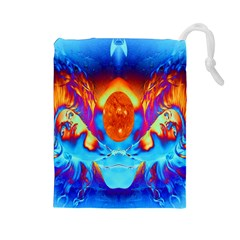 Escape From The Sun Drawstring Pouch (large)