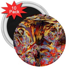 Abstract 4 3  Button Magnet (10 pack)