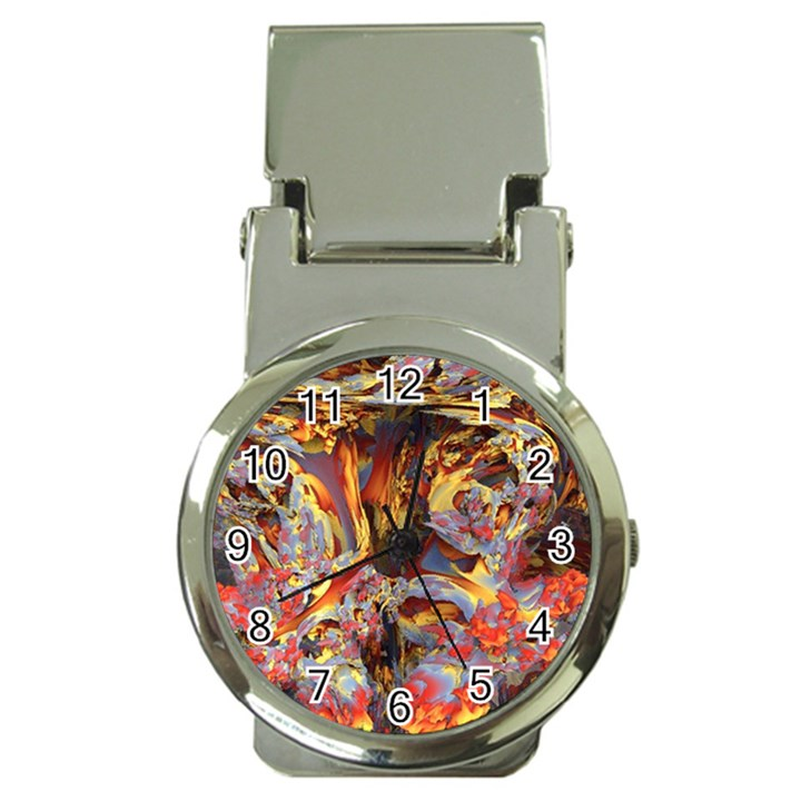 Abstract 4 Money Clip with Watch