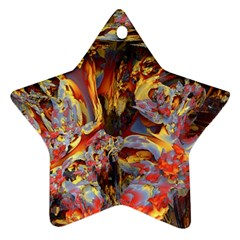 Abstract 4 Star Ornament (Two Sides)