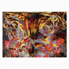 Abstract 4 Glasses Cloth (Large, Two Sided)