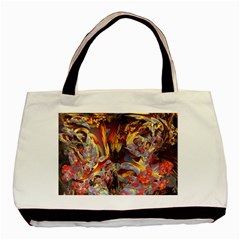 Abstract 4 Twin-sided Black Tote Bag