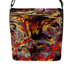 Abstract 4 Flap Closure Messenger Bag (Large)