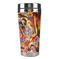 Abstract 4 Stainless Steel Travel Tumbler
