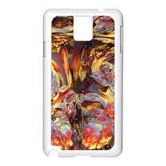 Abstract 4 Samsung Galaxy Note 3 N9005 Case (White)