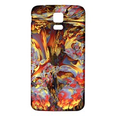 Abstract 4 Samsung Galaxy S5 Back Case (White)