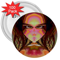 Cat Woman 3  Button (100 Pack)