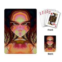 Cat Woman Playing Cards Single Design