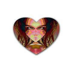Cat Woman Drink Coasters 4 Pack (heart)