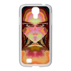Cat Woman Samsung GALAXY S4 I9500/ I9505 Case (White)