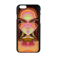 Cat Woman Apple iPhone 6 Black Enamel Case