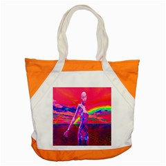 Cyborg Mask Accent Tote Bag