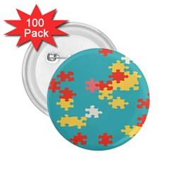 Puzzle Pieces 2.25  Button (100 pack)