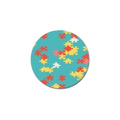 Puzzle Pieces Golf Ball Marker 4 Pack