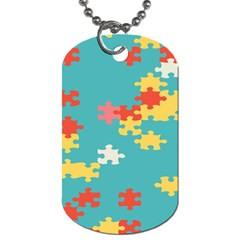 Puzzle Pieces Dog Tag (two Sided)