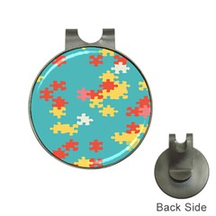 Puzzle Pieces Hat Clip with Golf Ball Marker