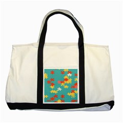 Puzzle Pieces Two Toned Tote Bag